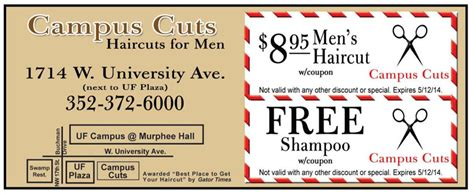 haircut coupons gainesville fl smartphone offers c d gator greenbacks coupon book