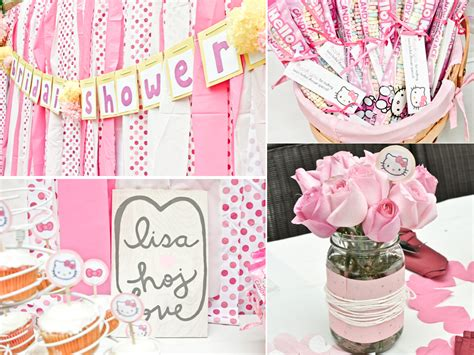 theme hello kitty pink hello kitty themed california bridal shower with girly