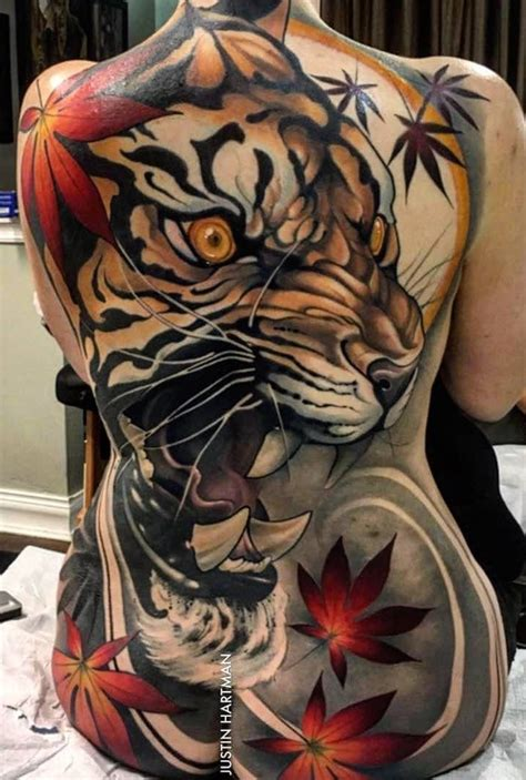 tattoo back piece designs tiger back design inspirations nature