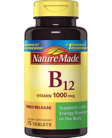 b12 supplement nature made vitamin b12 1000 mcg timed release tablet