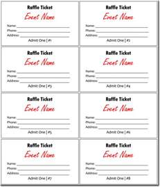 Raffle Tickets Template by 20 Free Raffle Ticket Templates With Automate Ticket