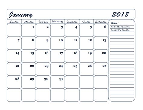 blank monthly calendar template 2018 2018 monthly blank calendar template free printable