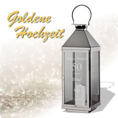 geschenk goldene hochzeit personalisierte laterne als geschenk zur goldenen hochzeit