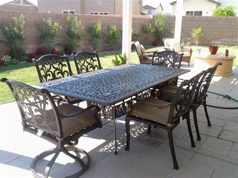 aluminum patio furniture clearance patio furniture aluminum table andrsca