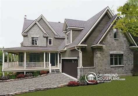 Classic Cottage Plans by New Colonial With 3 Car Garage