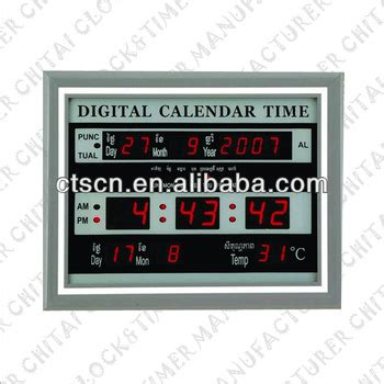 Electronic Wall Calendar Led Electronic Calendar Wall Mounted Buy Electronic