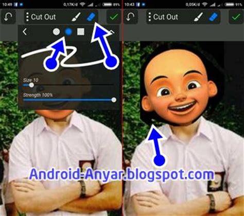 cara membuat foto menjadi kartun lewat picsart cara edit foto kartun kepala upin ipin lengkap di android
