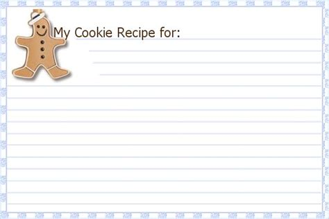 Cookie Recipe Card Template Word by Printable Cookie Recipe Cards Belly Bytes