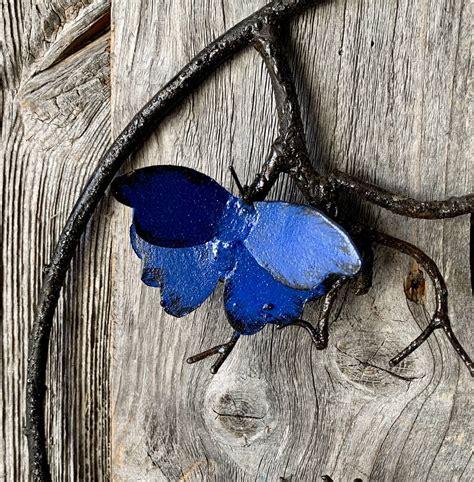 metal butterfly garden wall by garden trading