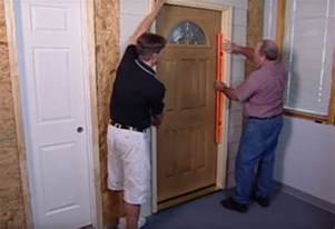 Installing Exterior Door Jamb How To Install An Entry Door At The Home Depot