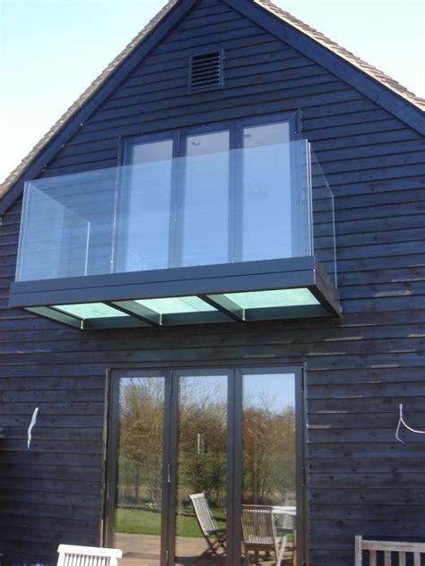 black powder coated balcony  frosted triple glazed
