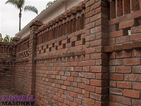 outside brick wall designs brick patio screen wall craftsman exterior san diego