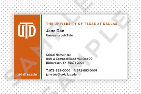 ut business card template ut business cards choice image business card template