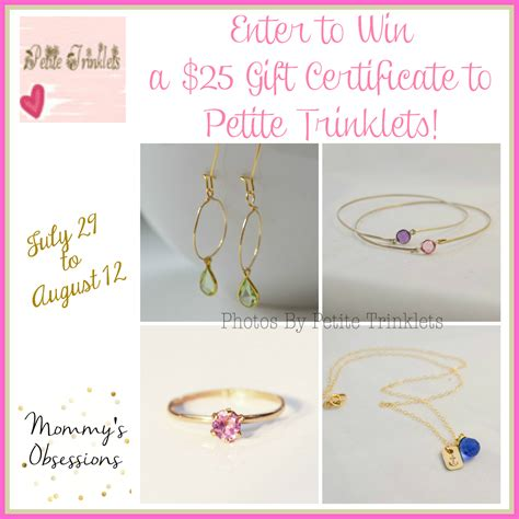 Gift Certificate Giveaway - 25 petite trinklets gift certificate giveaway