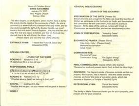 Funeral Mass Program Template by Catholic Funeral Program