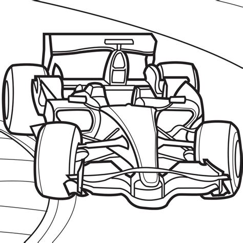 free a race track coloring pages