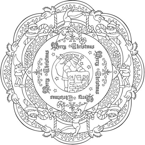 detailed christmas coloring pages for adults 8 christmas coloring pages for adults