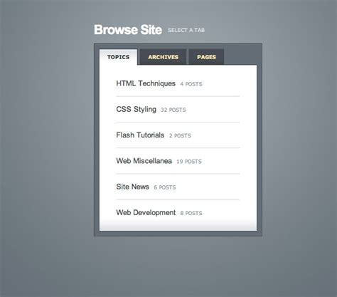 css tutorial tabs create a slick tabbed content area using css jquery