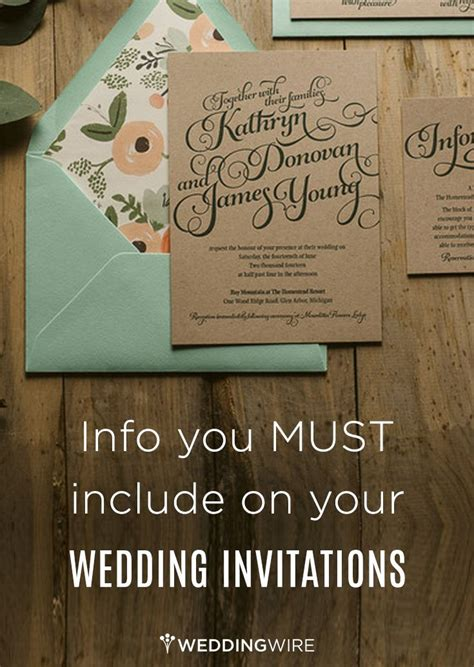 what should wedding invitations include the most important information that you should always include for your guests weddingtips