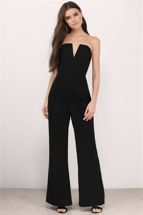 Jump Suit chic black jumpsuit v jumpsuit jumpsuit black