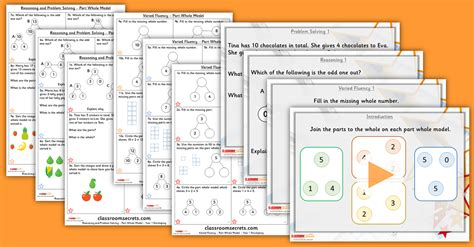 addition and subtraction of whole part whole model year 1 addition and subtraction free