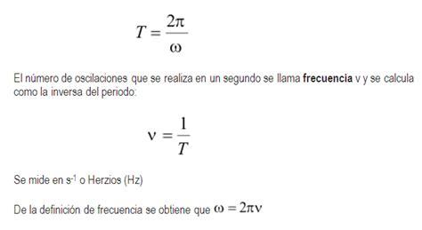 oscilacion fisica formulas movimiento arm 243 nico simple monografias