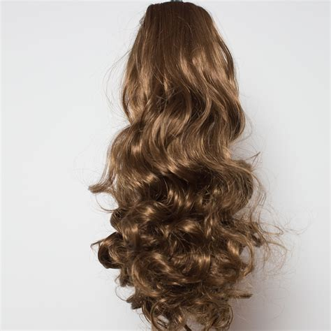 Hairclip Brown Light Brown ponytail clip in hair extensions light chocolate brown 12 18 reversible ebay
