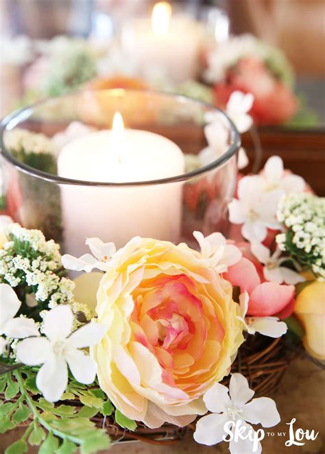Flower Decorating Tips Easy Floral Centerpiece Skip To My Lou