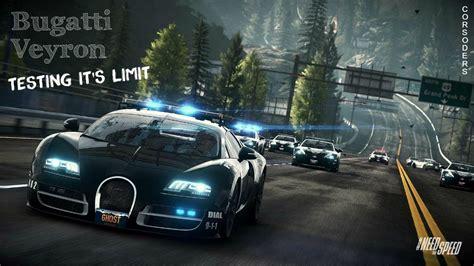 bugatti veyron speed limit bugatti veyron testing it s limit nfs pursuit