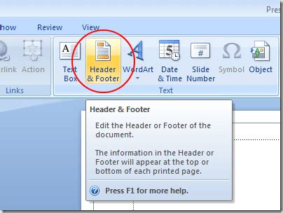 design footer powerpoint add headers and footers to a powerpoint presentation