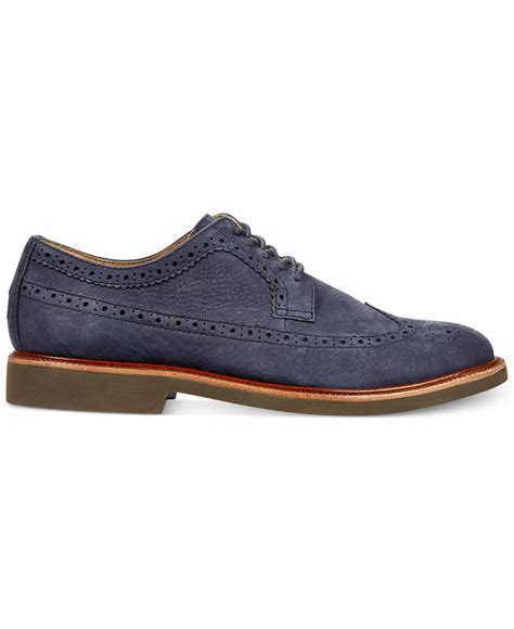 polo ralph oxford shoes lyst polo ralph torrington oxfords in blue for