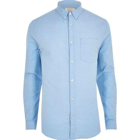 Light Blue Mens by Light Blue Fit Oxford Shirt Sleeve Shirts Shirts