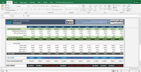 Basic Profit And Loss Excel Spreadsheet In E Template Earning Statement Sle Profit And Loss Profit And Loss Forecast Template Excel