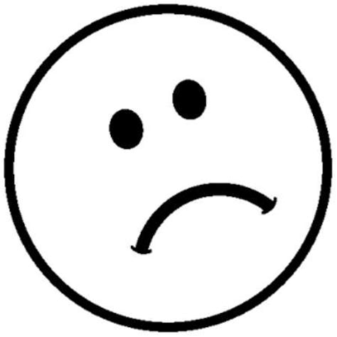 smiley face sad face coloring coloring pages