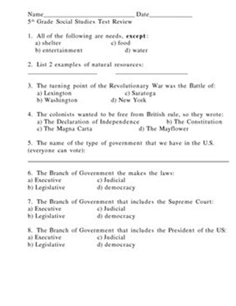 Social Studies For 5th Grade Worksheets by 13 Best Images Of 5th Social Studies Worksheets 5th