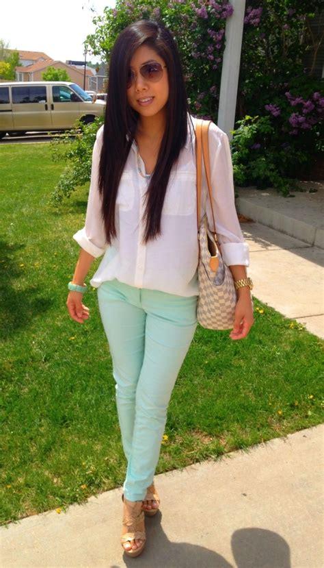 mint blouse easy mock styles