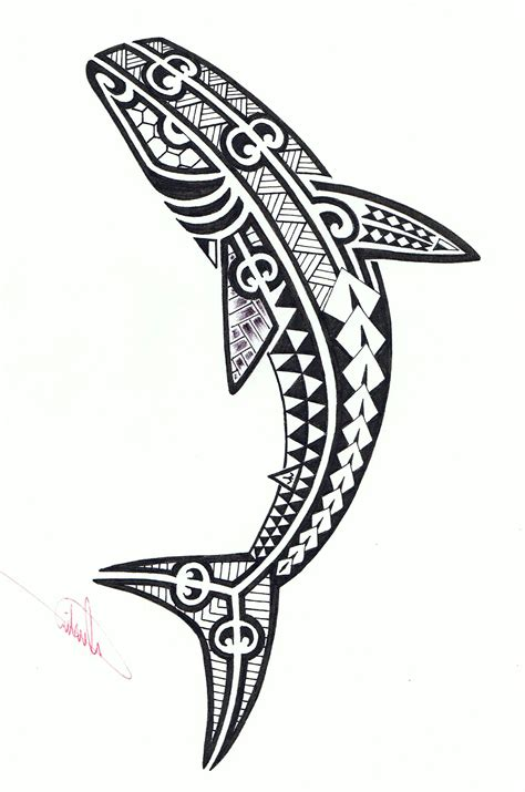 shark tribal tattoos tribal great white shark www imgkid the
