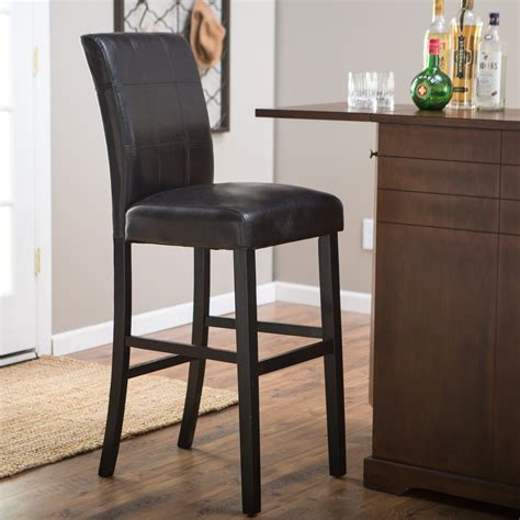 Palazzo 34 Inch Bar Stool Brown brown leather bar stools with backs of
