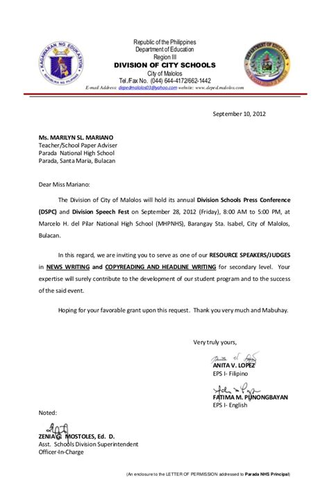 Transfer Application Letter For Teachers 8 Marilyn Sl Mariano