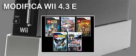 modifica console wii modifica nintendo wii versione 4 3e tecnow