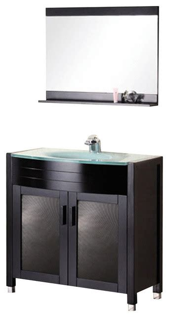waterfall 36 quot single sink vanity set espresso modern