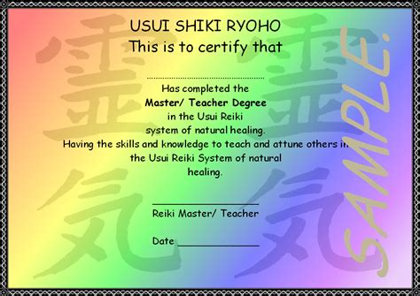 free templates for reiki certificates 10 best images of blank reiki certificate template free