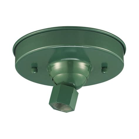 Shop Millennium Lighting 5 5 In Satin Green Hanging Light Light Canopy