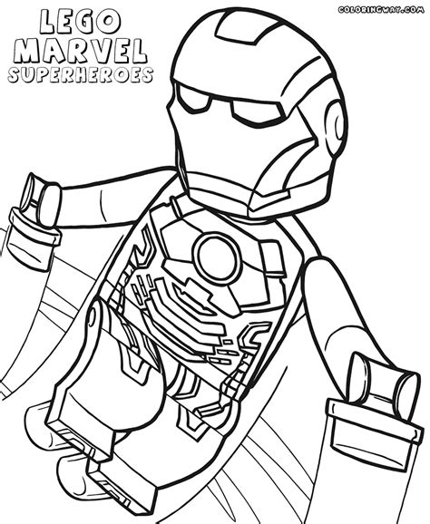 lego super heroes free coloring pages