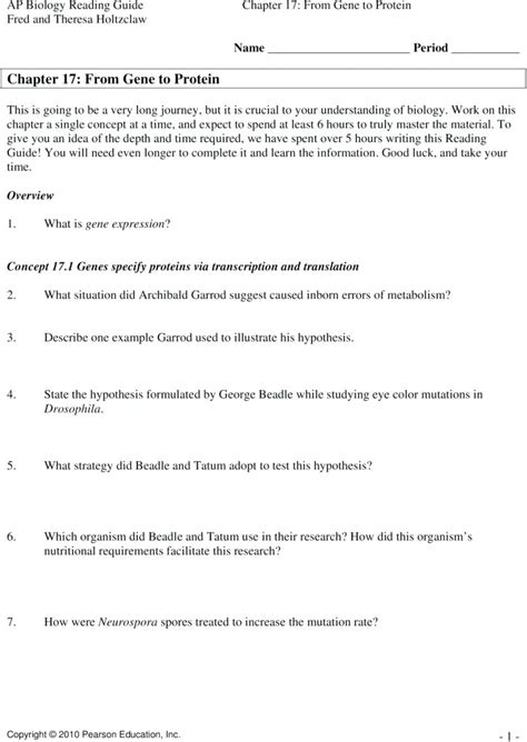 Biology Rna Worksheet