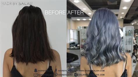 color melt hair technique silver gray hair color color melting technique