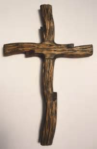 On That Rugged Cross by Rugged Rustic Wooden Cross Handcarved Handmade By