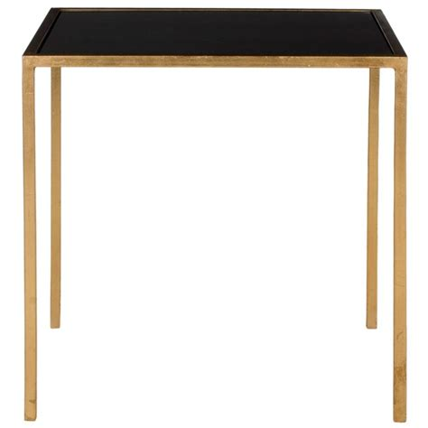 gold and glass end table safavieh kiley gold and black glass top end table fox2525b