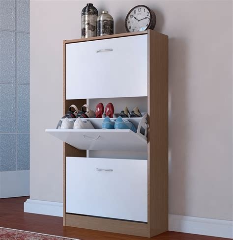 tidy storage cupboard white shoe cupboard white oak two tone 3 door pull cabinet shoe tidy oxford ebay