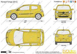 Renault Twingo Dimensions The Blueprints Vector Drawing Renault Twingo